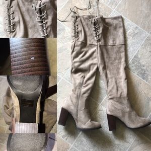 QUPID over the knee faux suede boots 6.5